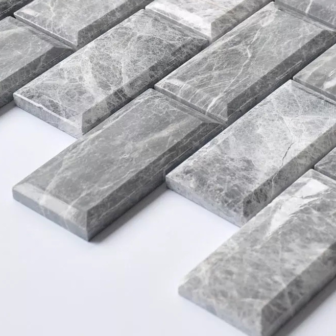 300 215 255mm 3d Rectangle Bevel Edge Grey Stone Tile Dhy