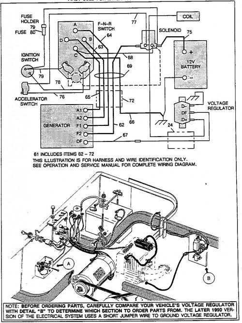 91 ezgo golf cart parts ignitor 1979 ez go wiring diagram 91 ezgo golf cart diagram #48