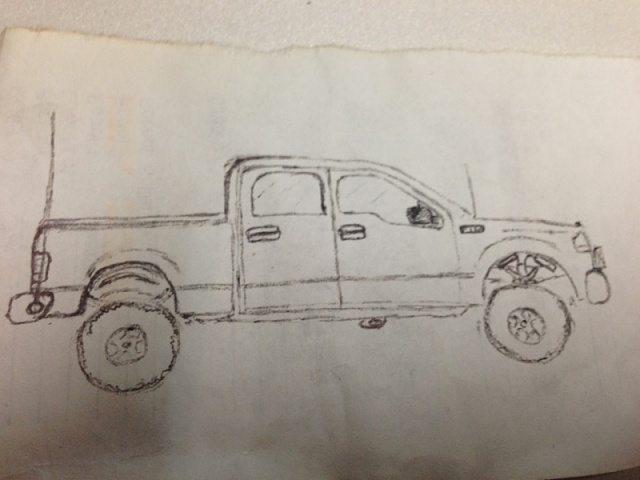 F350 Mud Trucks Coloring Pages