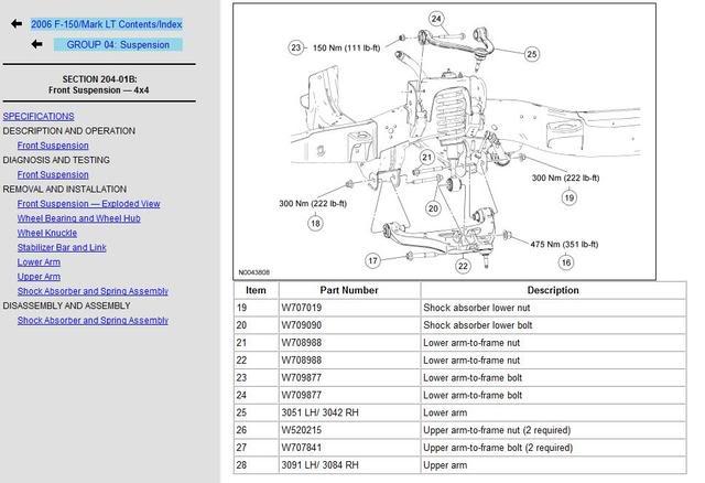 2002 Ford Ranger Suspension Diagram