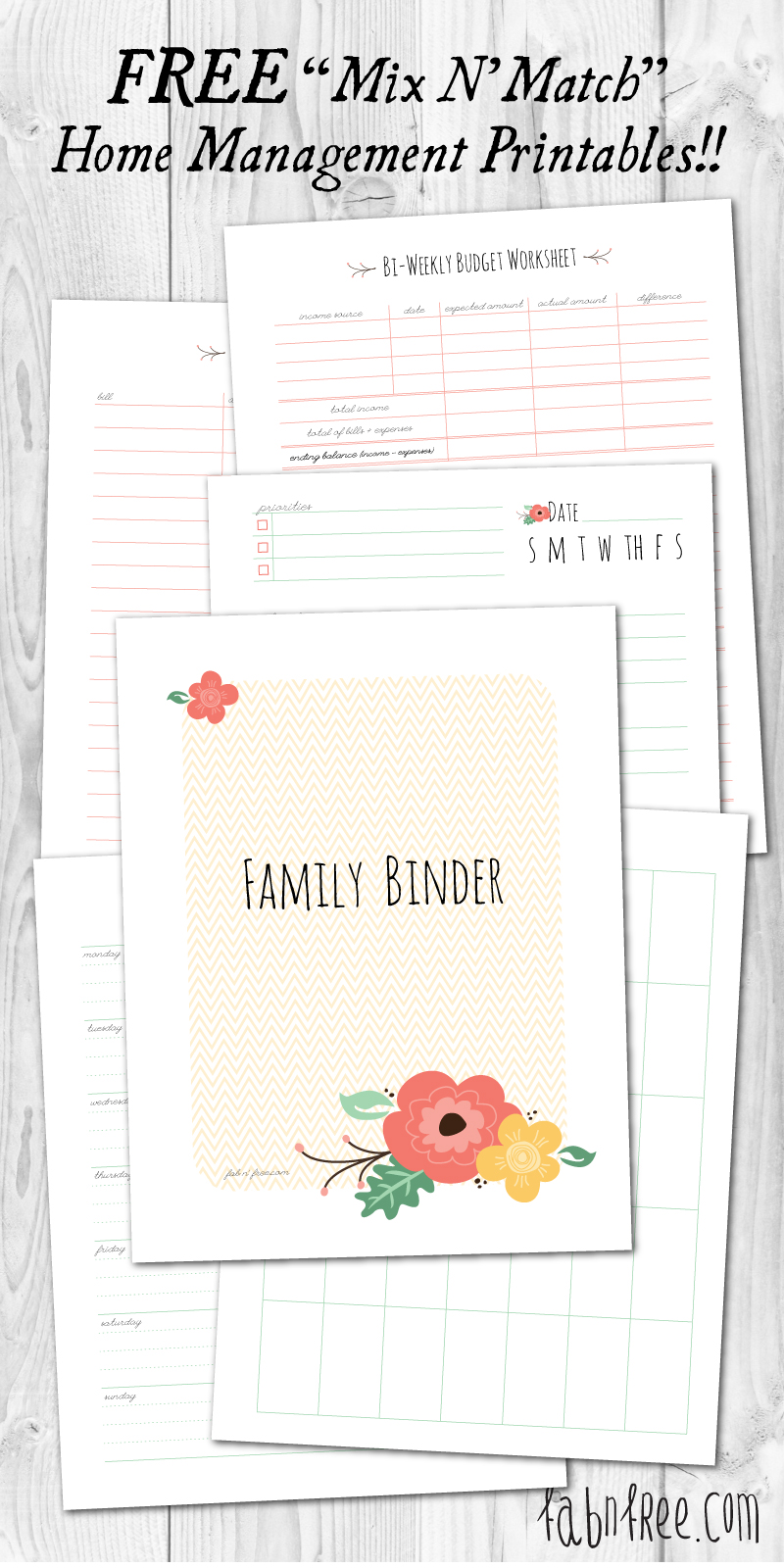 Monthly Printables Finance Planner Free