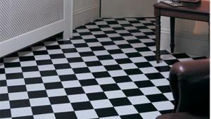 Rhinofloor Elite Tiles Pisa Black White 5765016 Vinyl