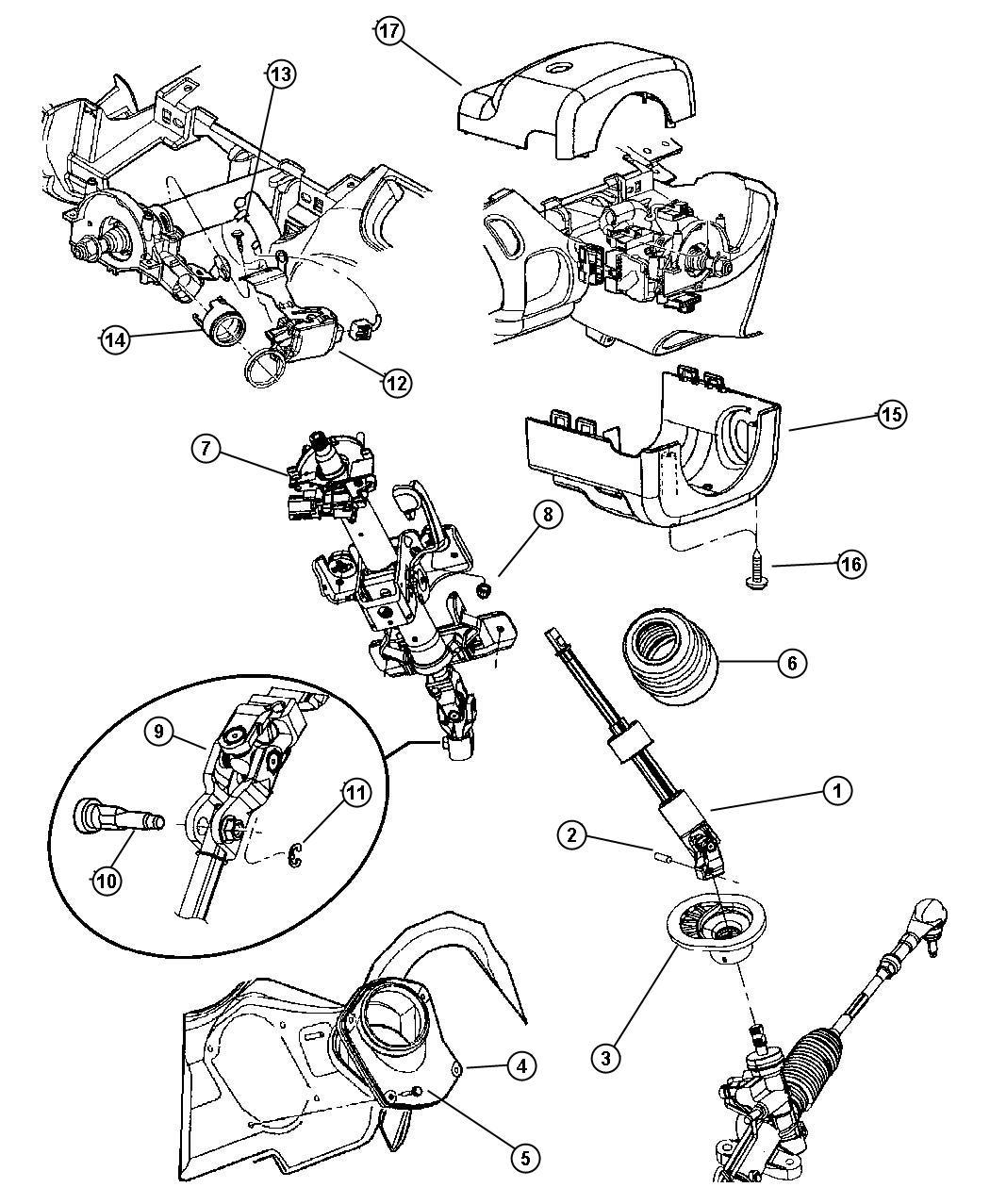 Showassembly 00i54911 showassembly 00i54911 chrysler chrysler pt cruiser steering column diagram at justdeskto allpapers