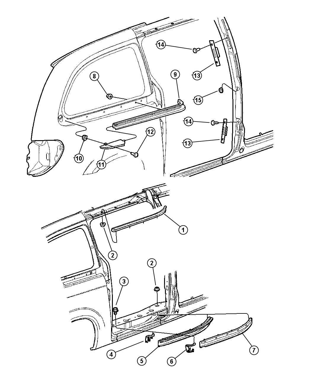 Photos of dodge caravan sliding door parts