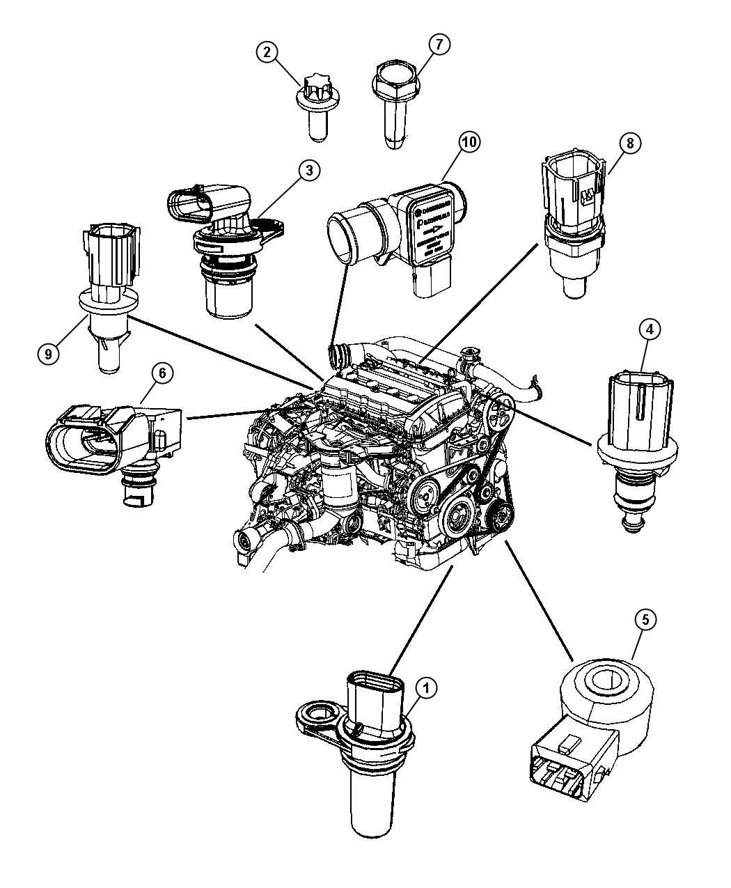 2009 dodge journey sensors engine