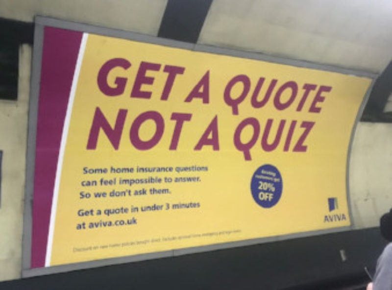 What does an ideal quote process look like      Fairer Finance While this may not sound too thrilling  Aviva have recently based an entire  marketing campaign on this