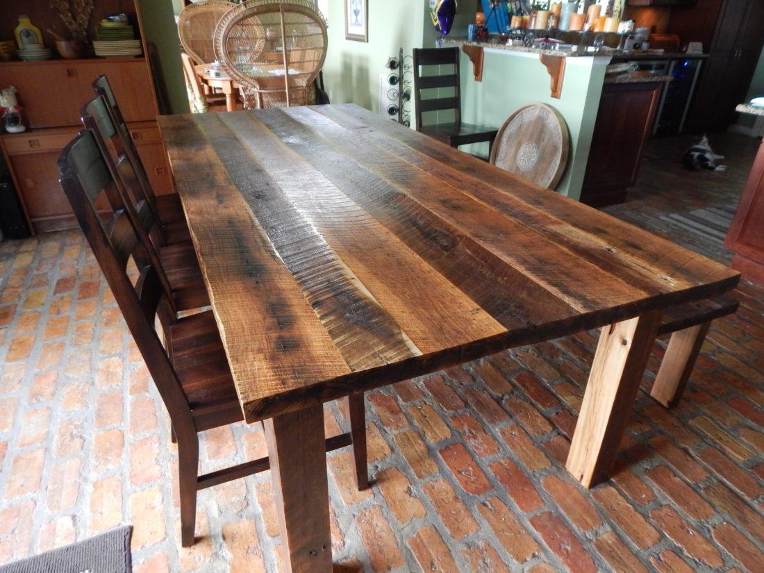 Dawn S Reclaimed Wood Farmhouse Dining Table Fama Creations