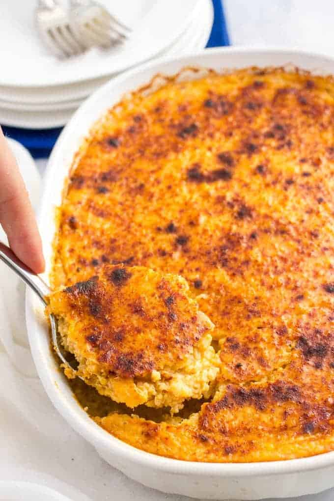 Overnight Cheesy Grits Casserole Family Food On The Table