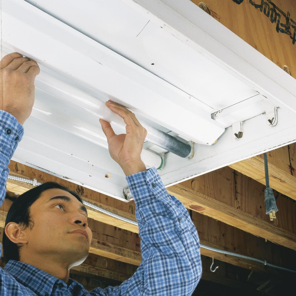 Replace Fluorescent Light Fixture