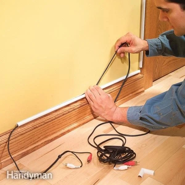 How To Hide Wiring  Speaker and Low Voltage Wire   The Family Handyman Ways to hide speaker  telephone  thermostat and other types of low voltage  wiring