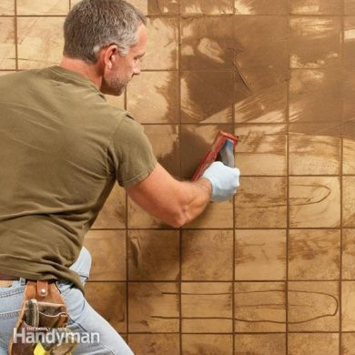 How to Regrout Bathroom Tile  Fixing Bathroom Walls   The Family     How to Grout Tile  Grouting Tips and Techniques