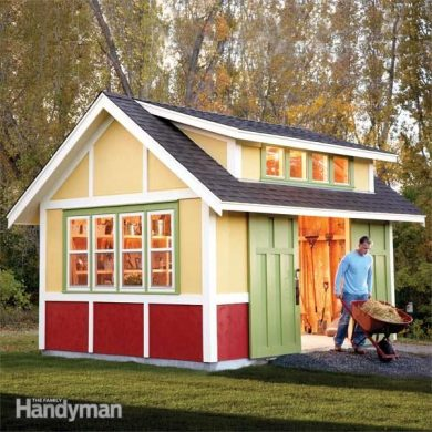 Shed Plans  Storage Shed Plans   The Family Handyman How to Build a Shed  2011 Garden Shed