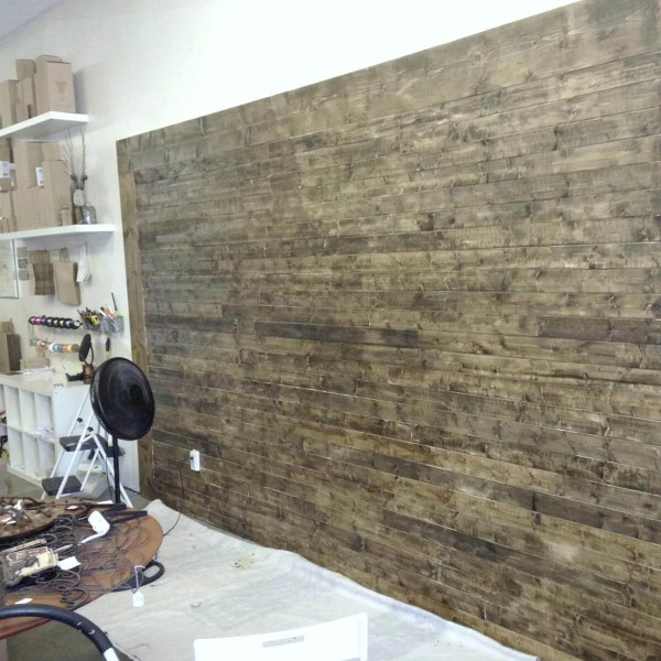 12 Incredible Shiplap Wall Ideas     The Family Handyman Stained Distressed Shiplap Boards