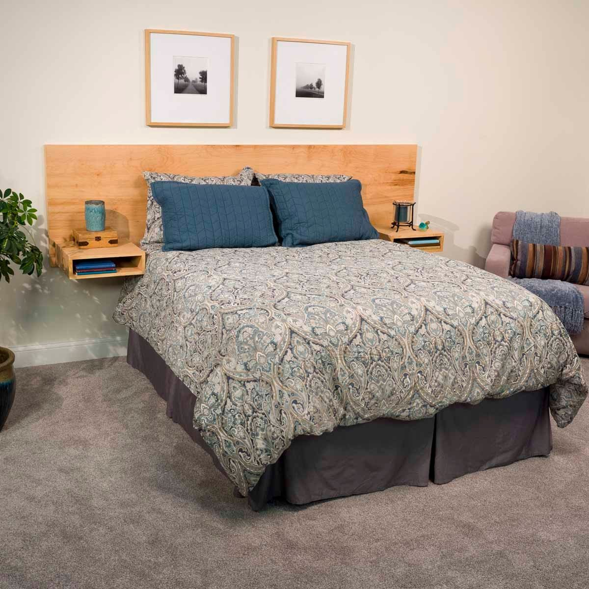 How to Build a Headboard     The Family Handyman Modern Floating Headboard Lead
