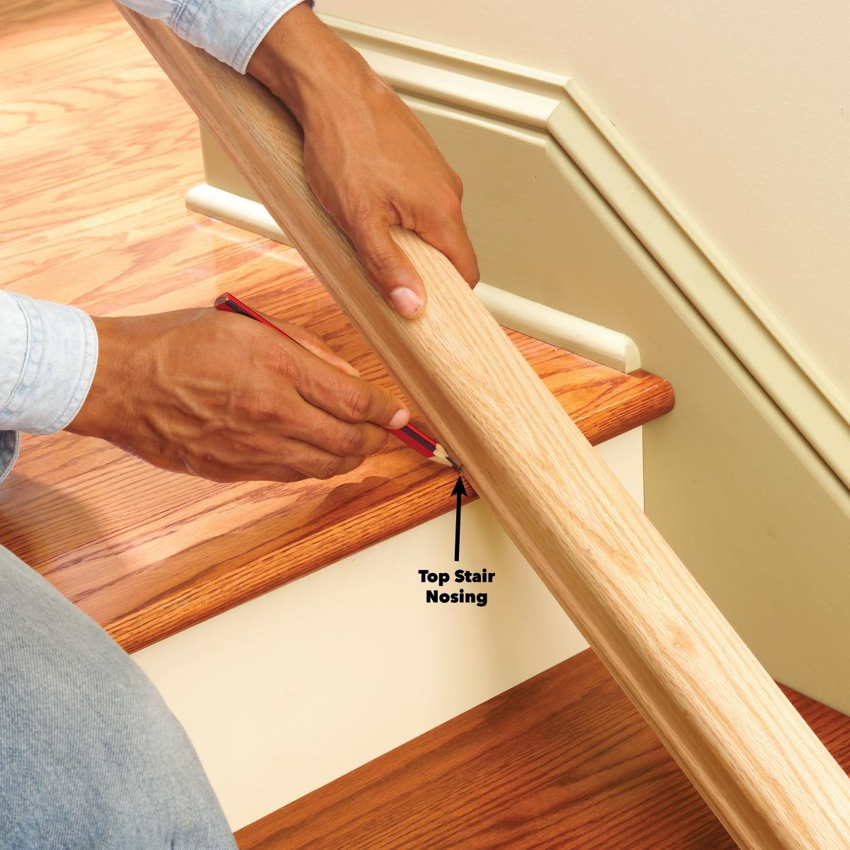 Install A New Stair Handrail | 2 Inch Round Wood Handrail | End Cap | Handrail Brackets | Stairs | Inch Diameter | Stair Railings