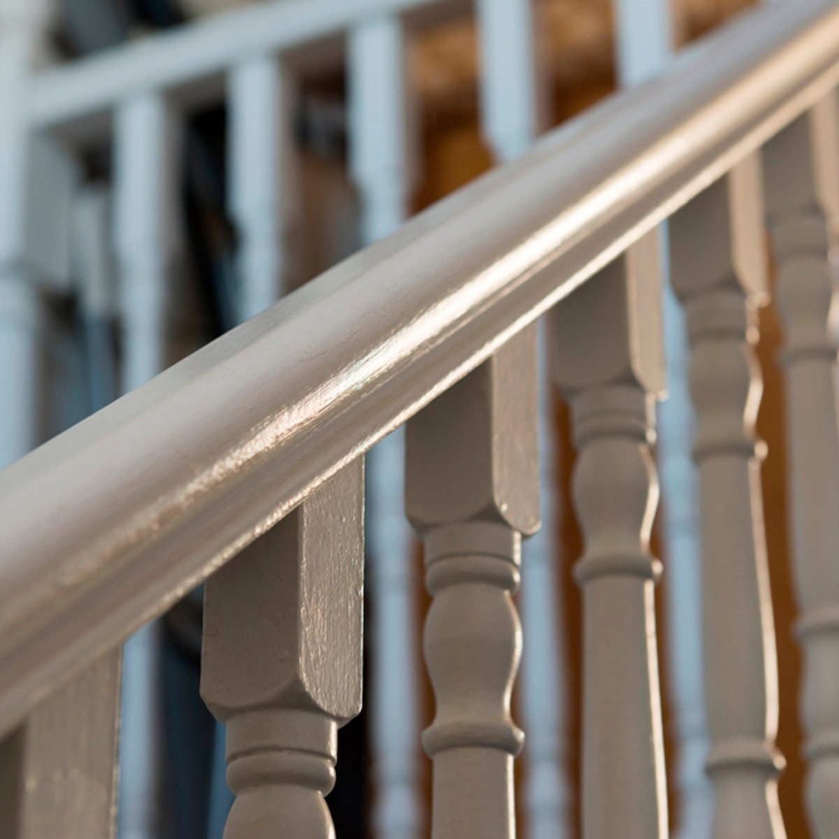 10 Ways To Freshen Up Outdated Banisters Family Handyman   Black Banister With White Spindles   Round   Antique   Finished Painted Stair   Oak Handrail Basket   Brazilian Cherry Stair