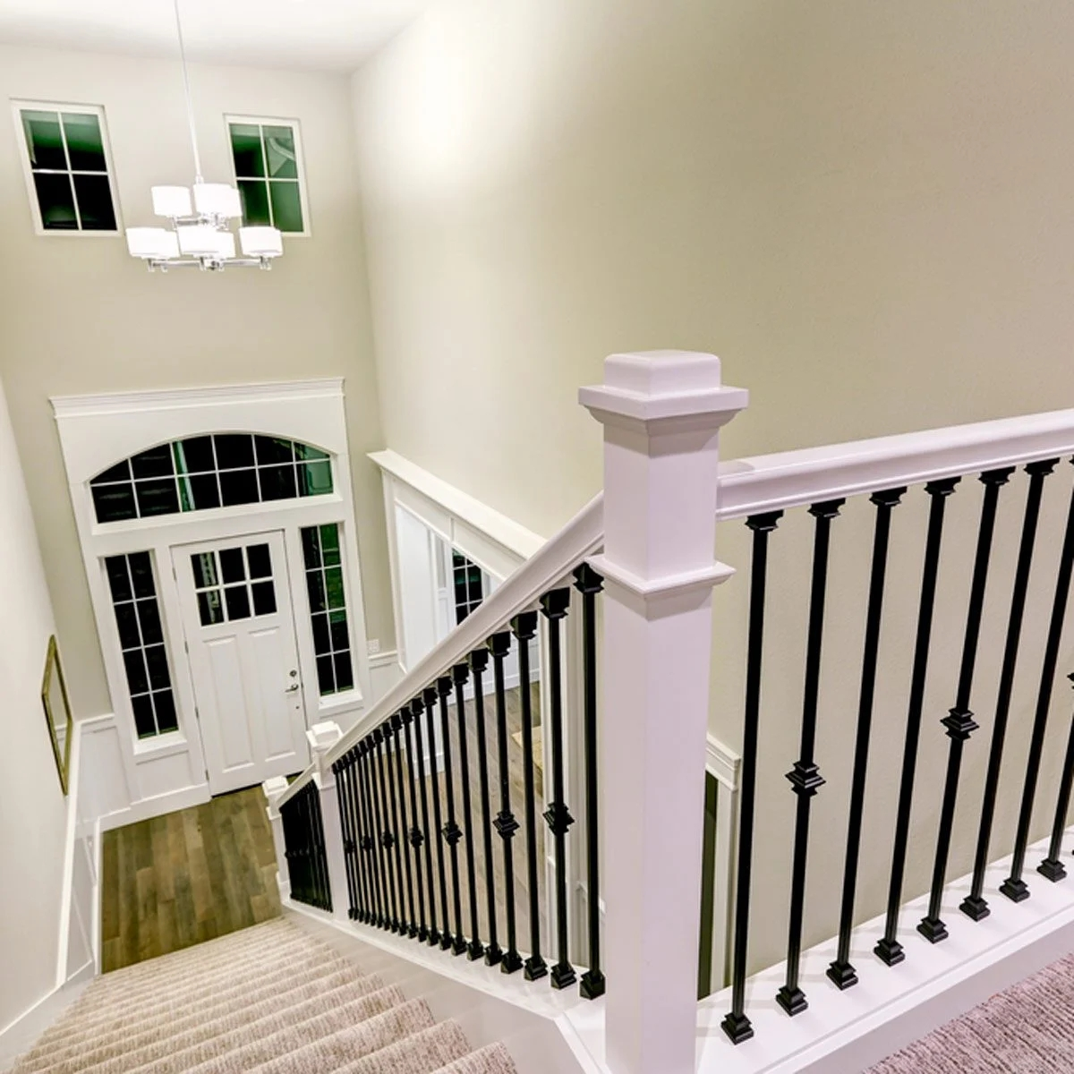 10 Ways To Freshen Up Outdated Banisters Family Handyman | Wood Handrail With Iron Balusters | Stairway | Wooden | Copper | Cast Iron | Landing