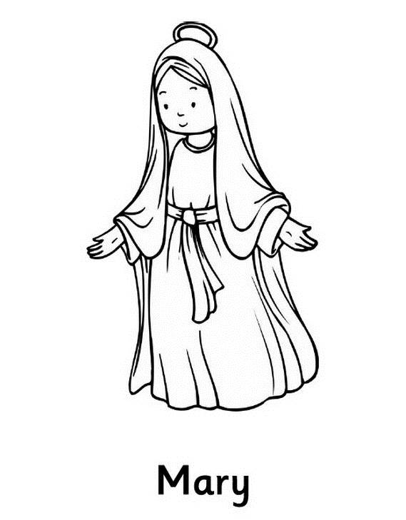 mary coloring pages # 8