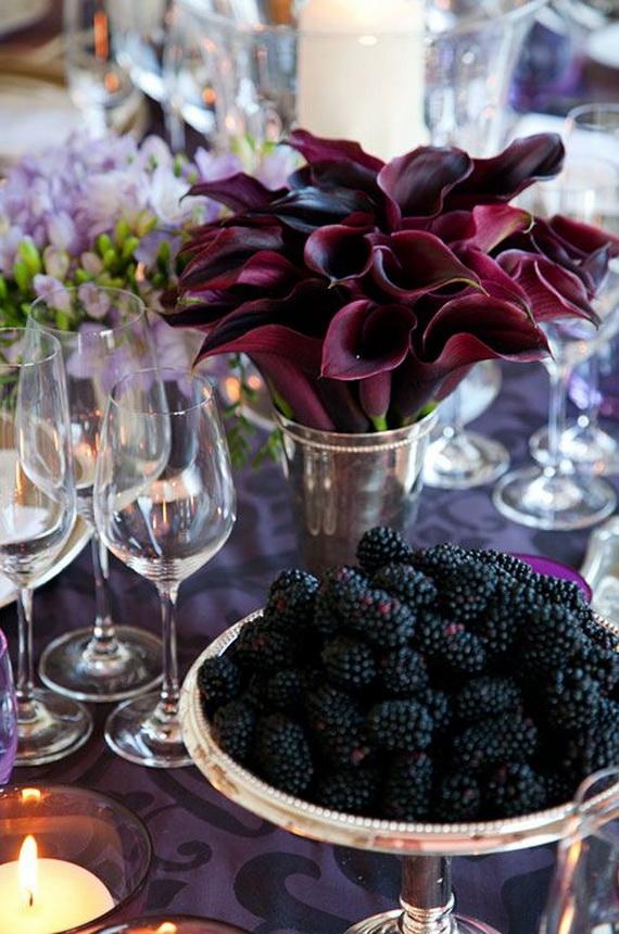 Autumn Themed Wedding Table Decorations