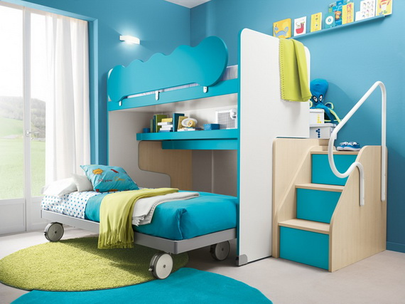 30 Vibrant And Lively Twin Kids Bedroom Designs Family
