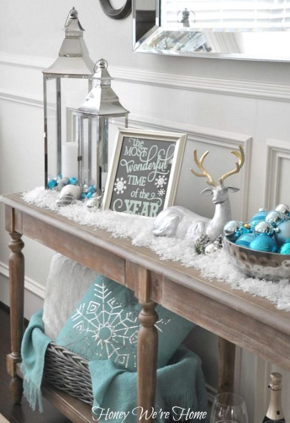 christmastreedecoratingideas28 winter wonderland christmas decorating ideas - Winter Wonderland Christmas Decorating Ideas
