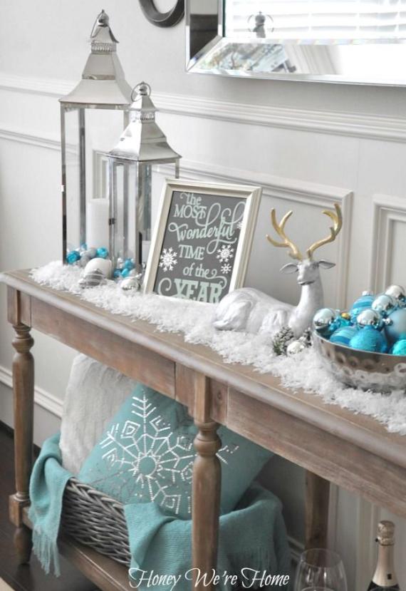 christmastreedecoratingideas28 winter wonderland christmas decorating ideas - Winter Wonderland Christmas Decorating Ideas
