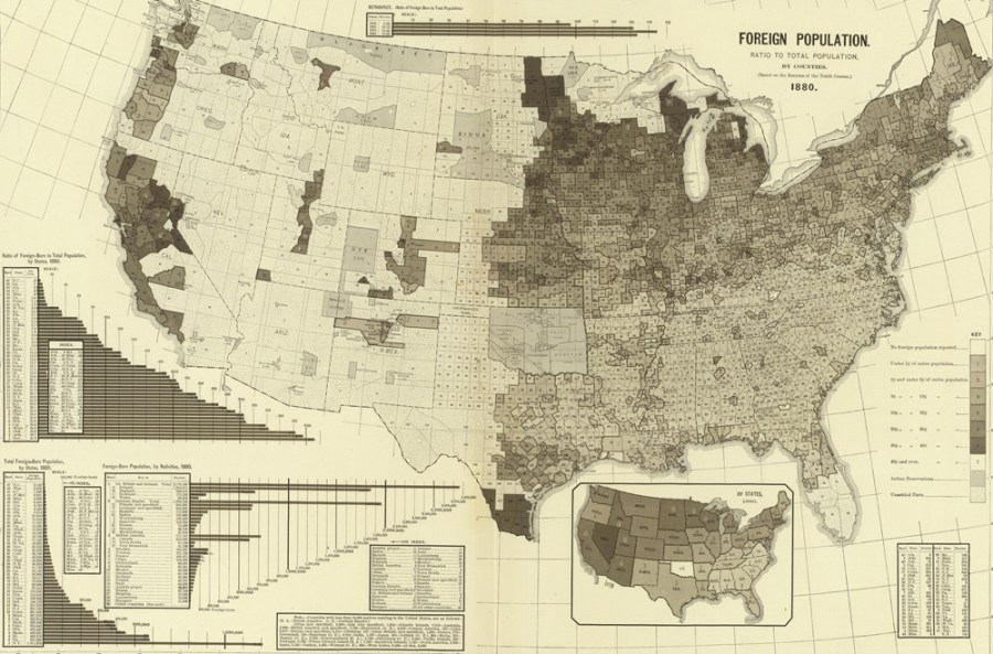 What a Foreign Born Population Map Tells Us about America   Family Tree Gaze into the past with this foreign born population map of 1880