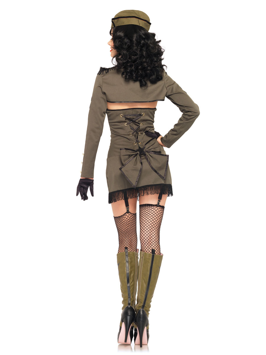 Adult Pin Up Army Girl Costume - 83955 - Fancy Dress Ball