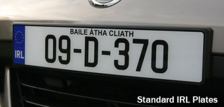 Fancy Plates Standard Ireland Number Plates