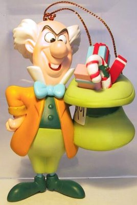 Mad Hatter With Gifts In His Hat Disney Ornament Grolier