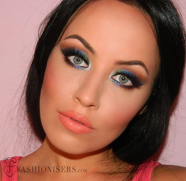 Sapphire Blue Smokey Eye Makeup Tutorial