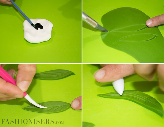 How to Make Leaves from Modelling Paste