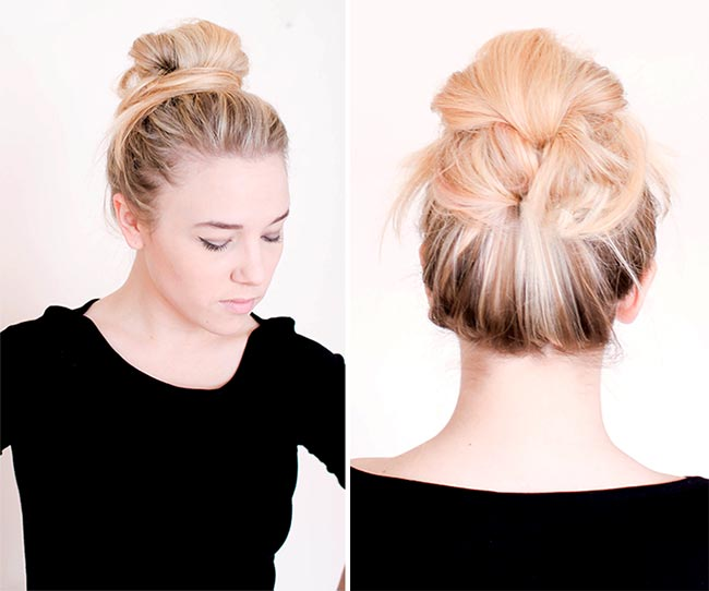 10 Pretty Hairstyles for Dirty Hair Days: Messy Bun