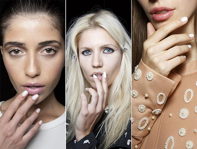 Spring/ Summer 2015 Nail Trends: White Nails