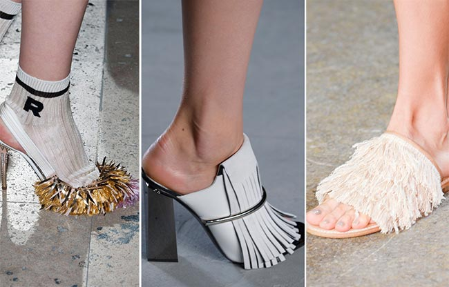 Spring/ Summer 2015 Shoe Trends: Fringed and Furry Shoes