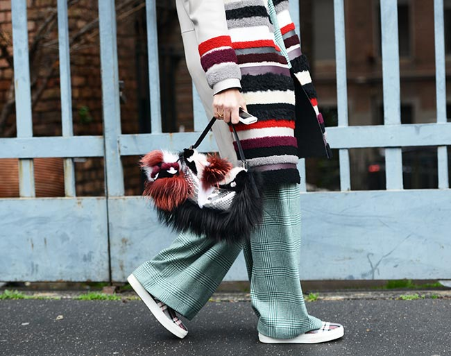 How to Wear Colorful Fur In Winter