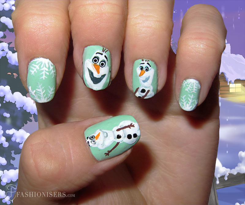 19 Unique Holiday Nail Art Designs: Frozen Nails
