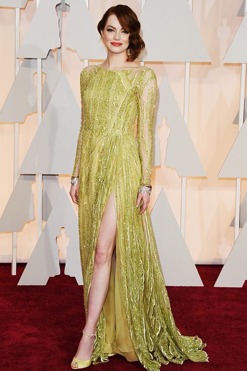 2015 Oscars Red Carpet Fashion: Emma Stone