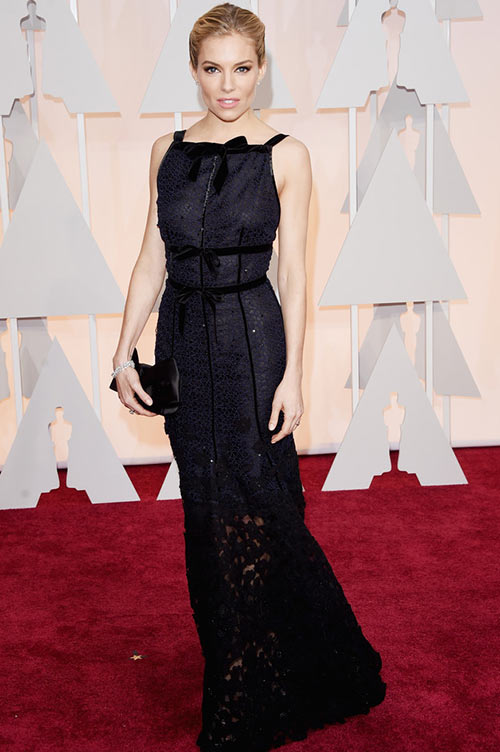 2015 Oscars Red Carpet Fashion: Sienna Miller