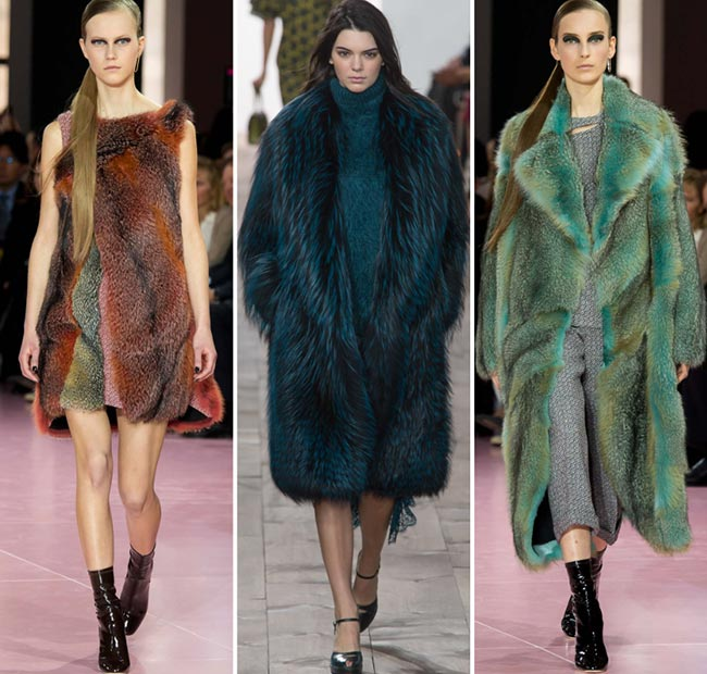 Fall/ Winter 2015-2016 Fashion Trends: Colorful Fur