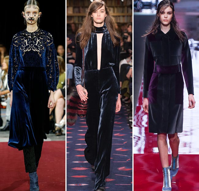 Fall/ Winter 2015-2016 Fashion Trends: Velvet