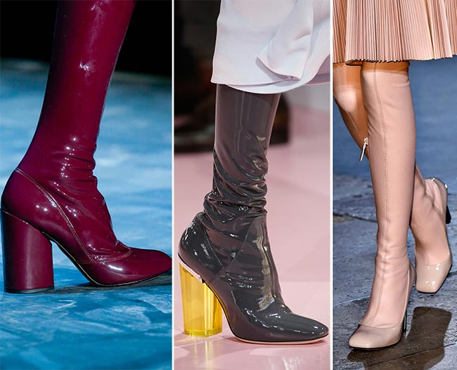 Fall/ Winter 2015-2016 Shoe Trends: Latex Boots