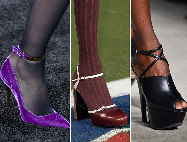 Fall/ Winter 2015-2016 Shoe Trends: Shoes With Ankle Straps