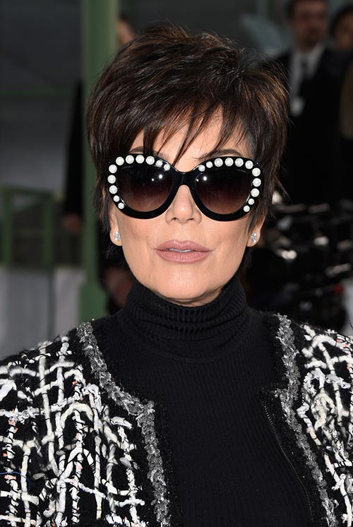 Short Hairstyle Ideas: Kris Jenner Layered Razor Haircut