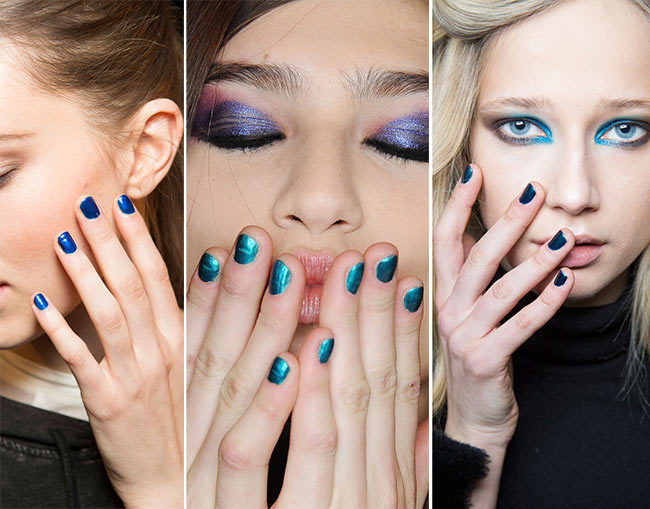 Fall/ Winter 2015-2016 Nail Trends: Blue Manicure
