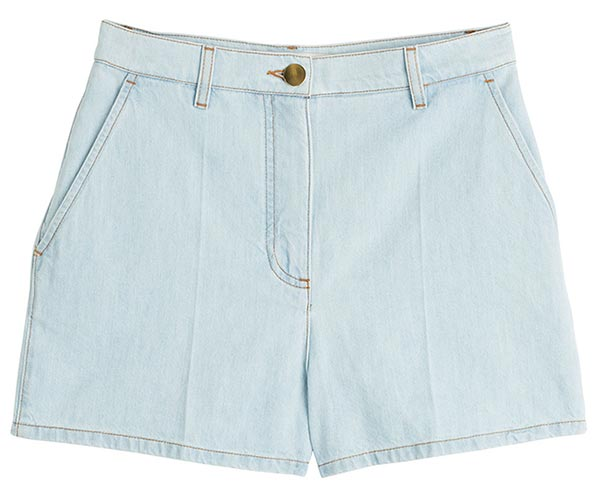 Summer 2015 Trendy Denim Shorts: Valentino Retro Denim Shorts