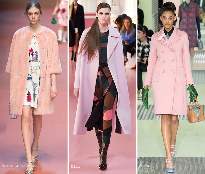Fall 2015 Trend of Pastel Colors: Outerwear