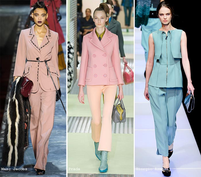 Fall 2015 Trend of Pastel Colors: Suits
