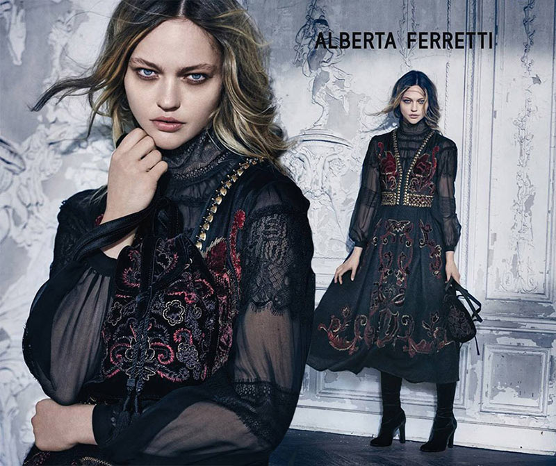 Sasha Pivovarova the Alberta Ferretti Queen for Fall 2015