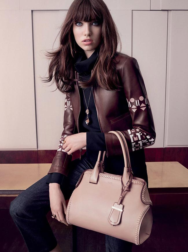 Grace Hartzel for Tod's Fall 2015 Campaign